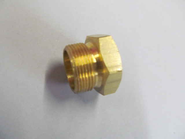 Brass fuel fitting oversized