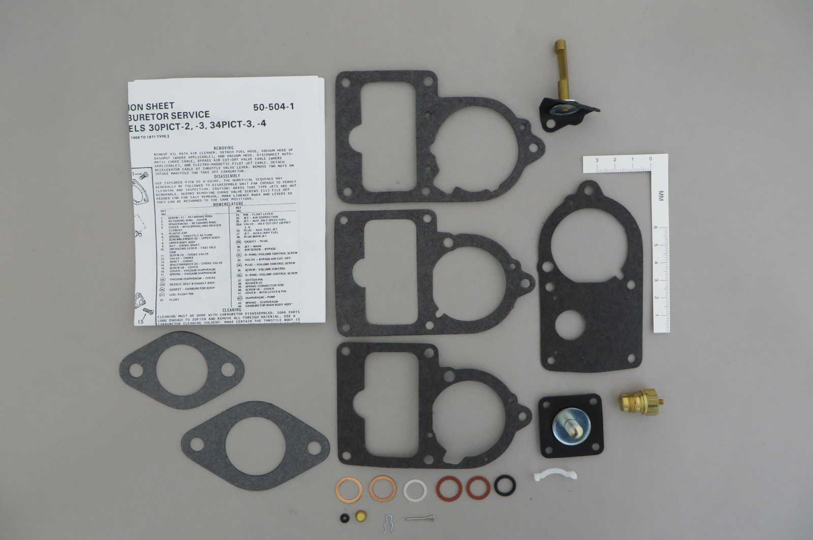 solex 28pict 30pict 34pict 3 carburetor repair kit 1961 71 vw rh carburetor parts com Solex Carburetor Diagram Solex Carburetor Diagram