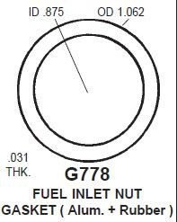 Rochester  Fuel Inlet Gasket