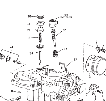Oldsmobile Carburetor Parts Diagram