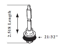 Rochester Monojet Accelerator Pump 2.518