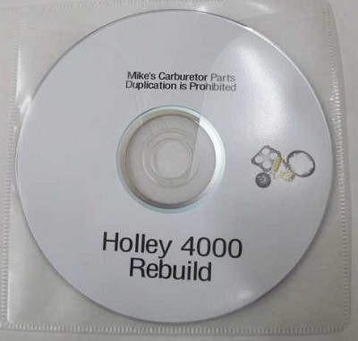 Holley 4000 Rebuild Video DVD