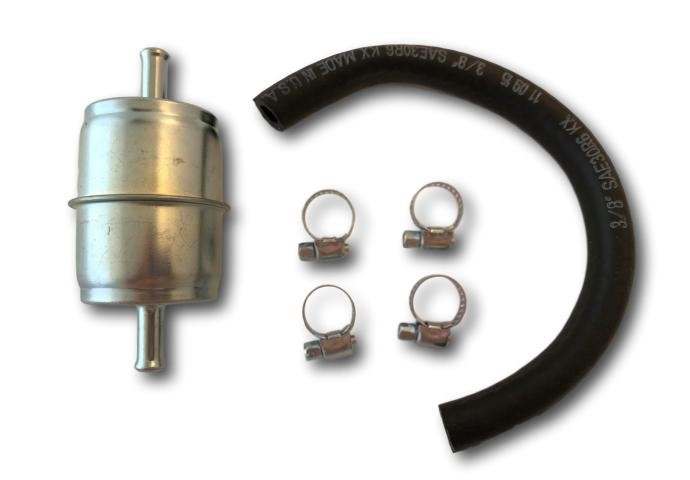 "Metal Fuel Filter 3/8"" Hose In-Line"