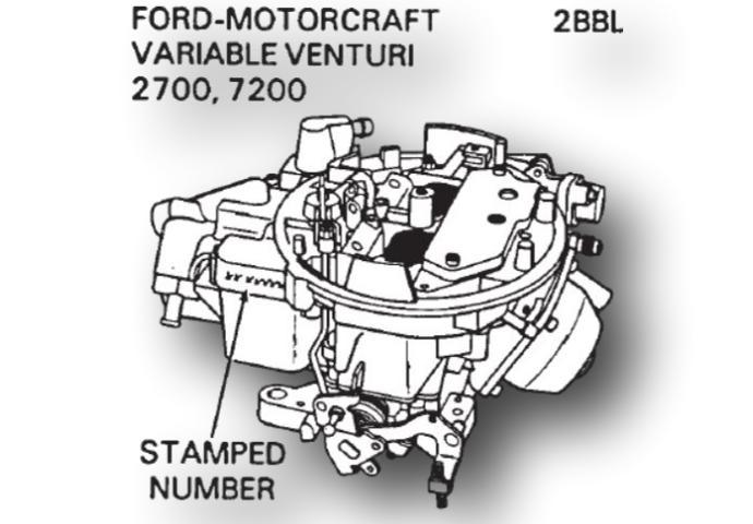 Motorcraft 2700 7200 carburetor kit