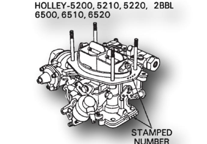 Holley 6500 Carburetor Identification