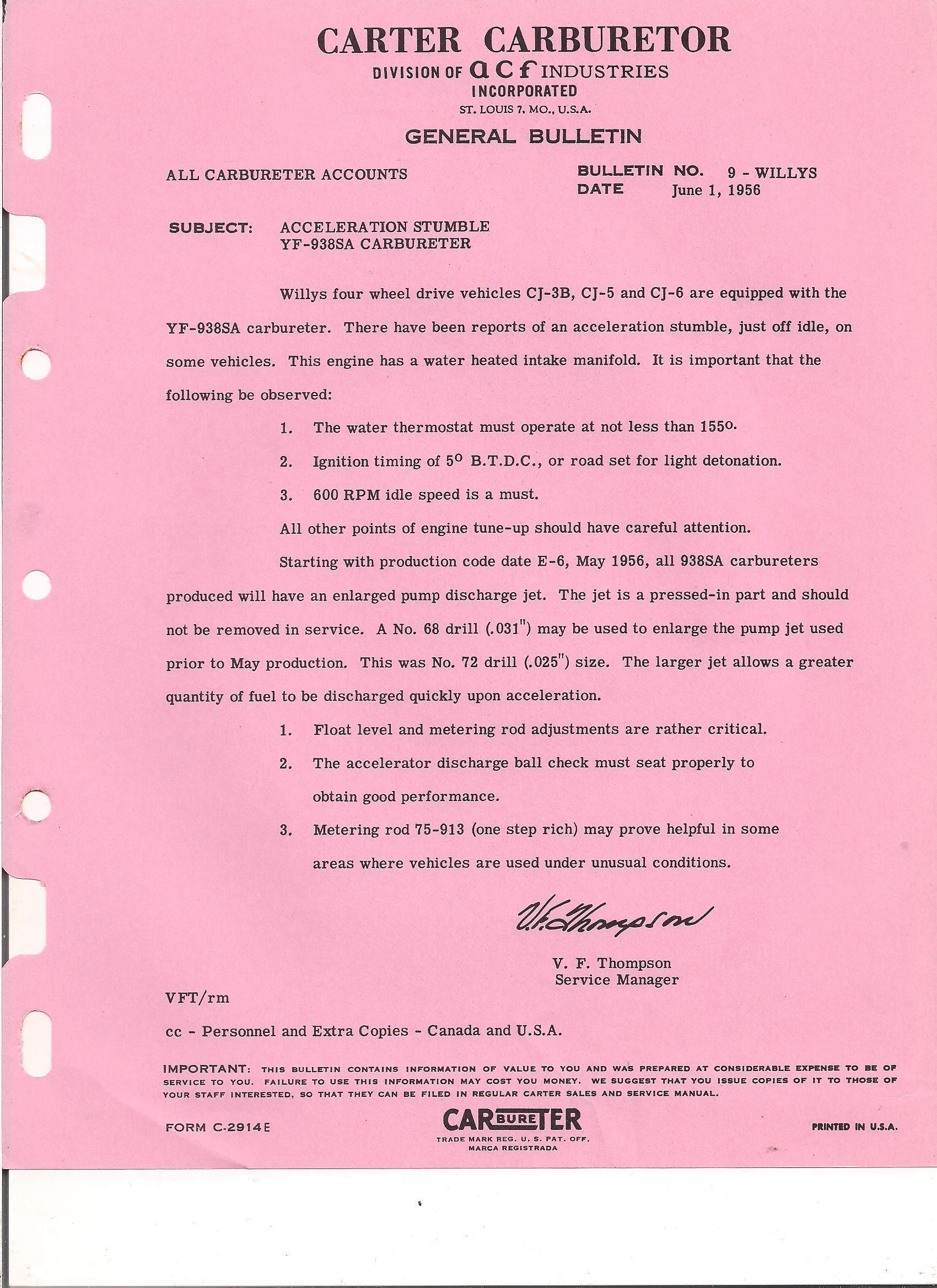 carter yf yfa technical CJ5 Brake Drum Diagram carter yf carburetor manual 1968 69