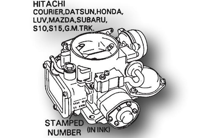 Hitachi Carburetor Identification