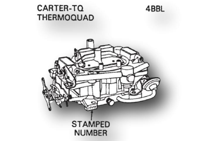 Carter Thermoquad TQ Carburetor Kit