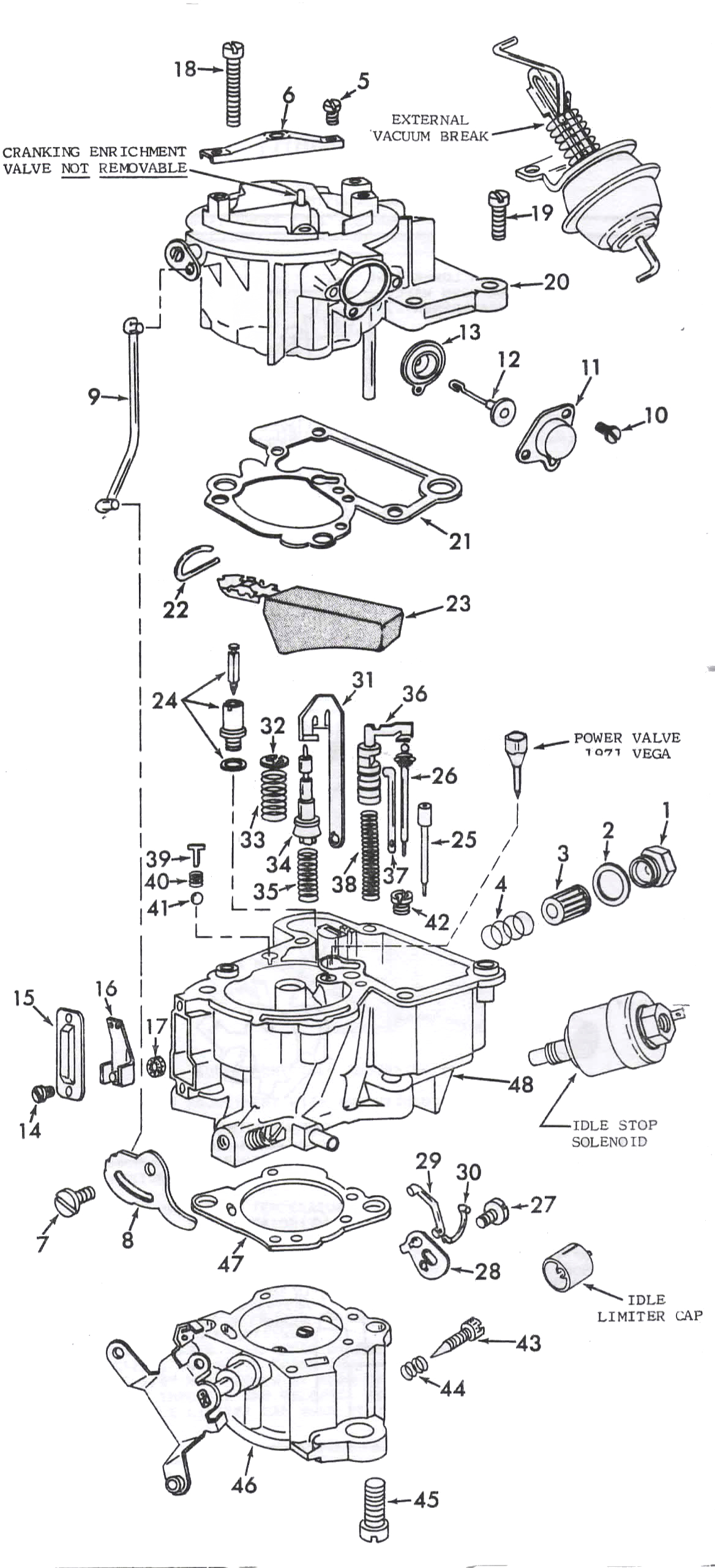 rochester monojet carburetor diagram