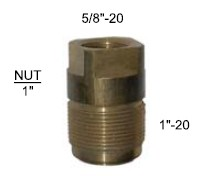 Brass Fitting 5/8 x 1
