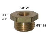 Brass Reducer Fitting 5/8