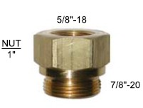 Brass Fuel Fitting - Quadrajet 7/8 & 5/8 - 90-157