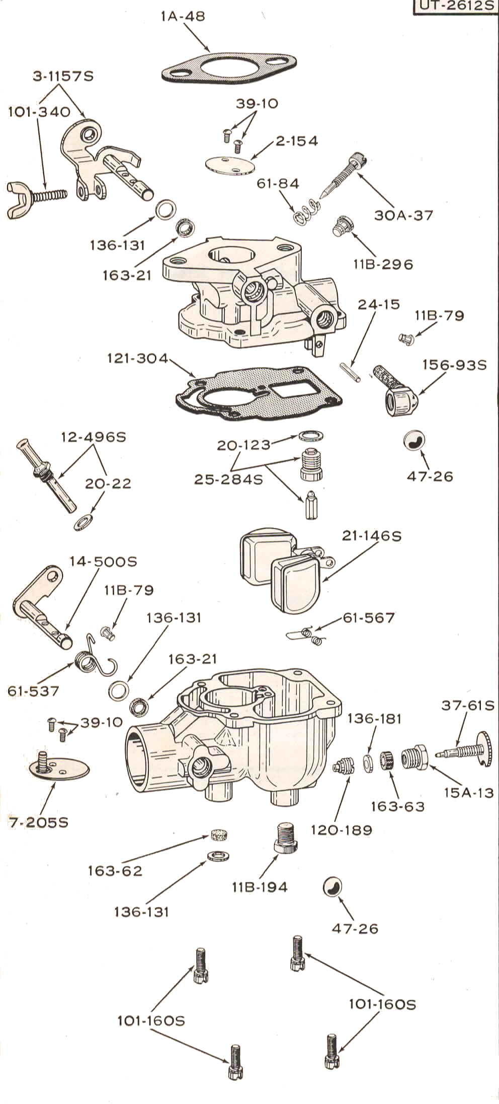 Ferguson Tractor To 35 F 40 Mh 50 Engine Carburetor Diagram Marel Schebler
