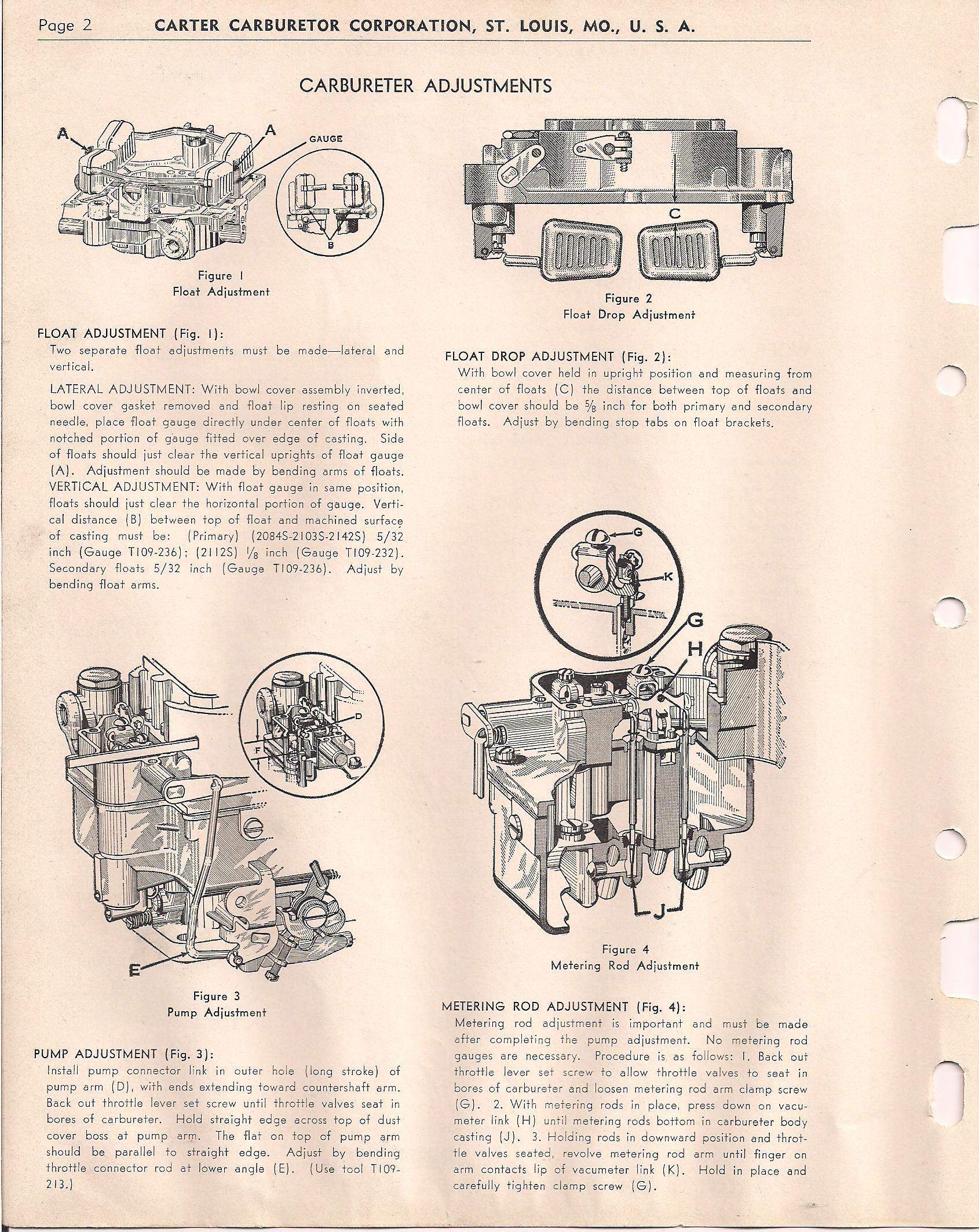 Carter 4 barrel carburetor manual | 1952 Buick Carter 4