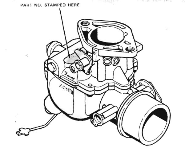 Carburetor Diagram Zenith Wia2 And Wip2 Consul Mkii Zodiac And